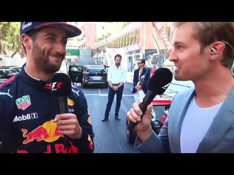 Daniel Ricciardo post race interview Monaco GP 2017