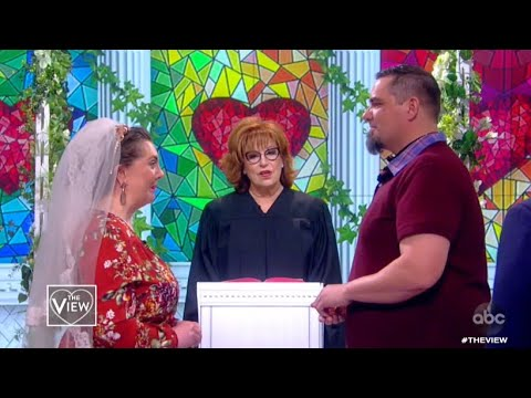 Joy Behar Officiates Valentine's Day Wedding Live on 'The View'