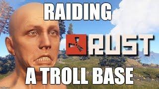 RAIDING A TROLL BASE - RUST SOLO