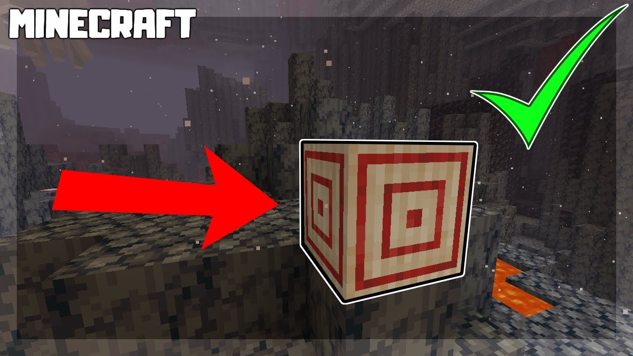 MINECRAFT | How to Craft a TARGET BLOCK! 1.16.1