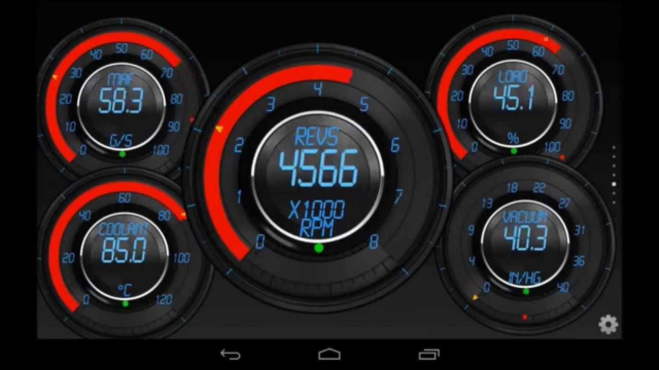 Torque OBD 2 Precision Dials Theme with Editor
