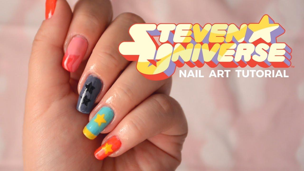 Nail Art Steven Universe 1 Youtube