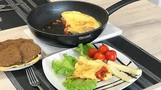 Яйца с помидорами . Рецепт 2018 . NEW  Как пожарить яичницу с помидорами Что приготовить на завтрак