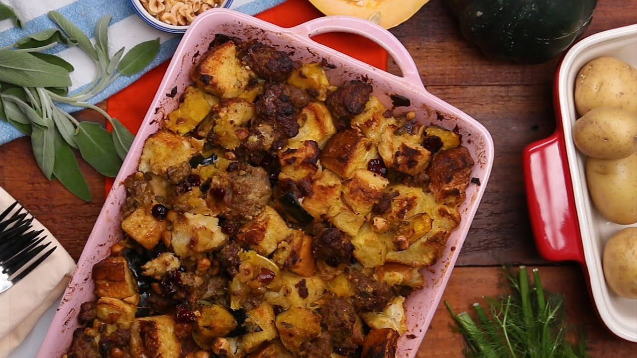 maxresdefault - Maple Hazelnut Squash and Sausage Stuffing