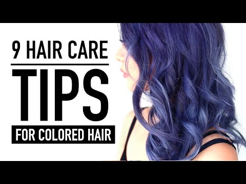 9 Hair Care Tips & Products ♥  New Color REVEAL! ♥ Hair Routine for Colored Hair ♥ Wengie