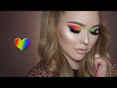 pride tribute rainbow eyes makeup tutorial  youtube