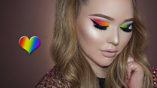 PRIDE Tribute Rainbow Eyes Makeup Tutorial thumbnail