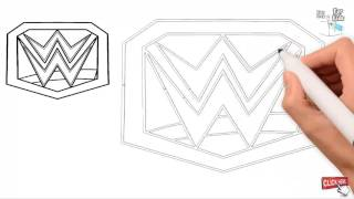How to Draw WWE LOGO Drawing very easy step by step || Draw Easy For Kids
