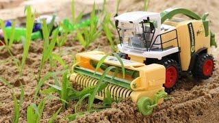 ของเล่น รถแทรกเตอร์ไถนาปลูกข้าว รถเกี่ยวข้าว รถบรรทุก Combine Harvester For Kids