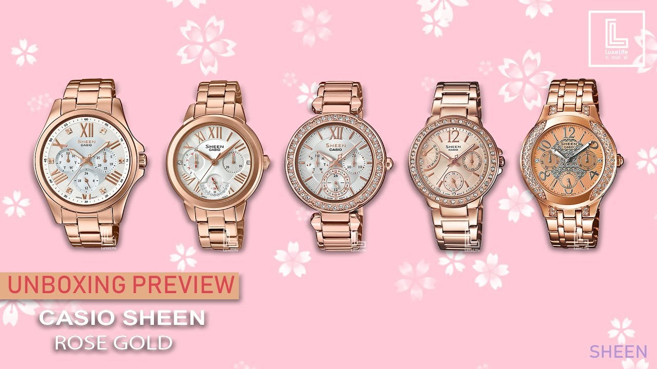 sports shoes cbf16 84e62 UNBOX PREVIEW !! CASIO SHEEN ROSE GOLD & PINK GOLD #Module No.5420 , 5421