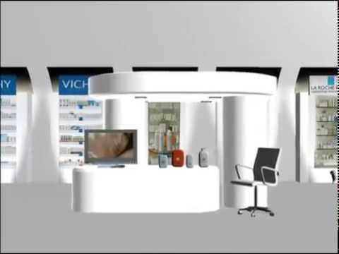 Dise o de stand 3d para productos vicky de loreal youtube for Muebles 3d gratis