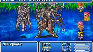 Final Fantasy V - Gilgamesh's sacrifice (Necrophobe boss fight)