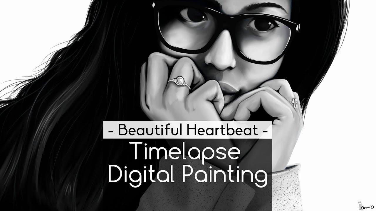 Heartbeat Line Art : Timelapse digital painting beautiful heartbeat youtube