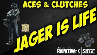 Rainbow Six Siege - Ace & Clutches!  (PC Funny Moments RB6)   Jäger Is Life!