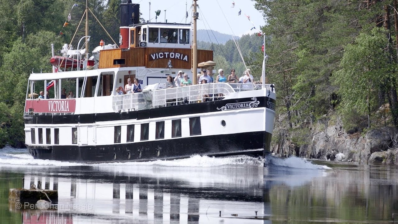 MS Victoria on the Telemark Canal, Norway - Video & Audio [1080HD] SlowTV