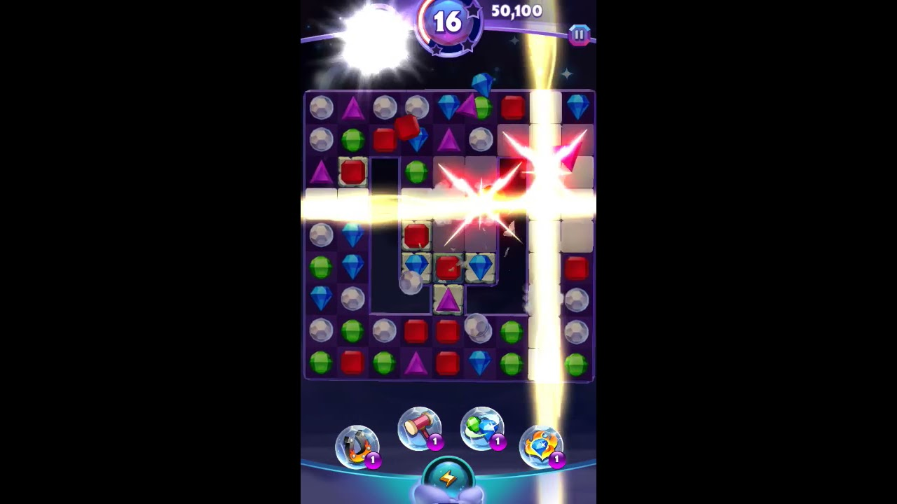 Bejeweled Stars Level 44 - Walkthrough ( No Booster )