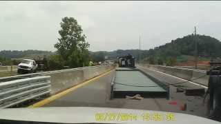 FAIL!! Semi Truck Carrying Huge Steel Beam Tips Over!