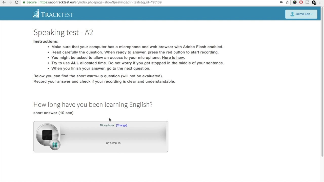 How to Enable Flash in Chrome web browser (for the Speaking test on