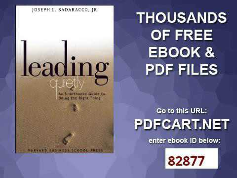 Leading Quietly Pdf