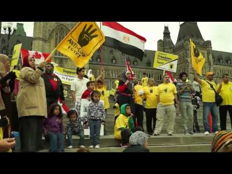 Canadians Pro-Democracy protest the bloodshed and illegitimate military coup in Egypt (5)