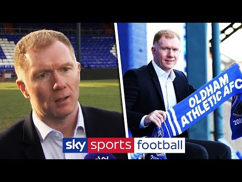 PAUL SCHOLES UNVEILED AS OLDHAM MANAGER | Full interview