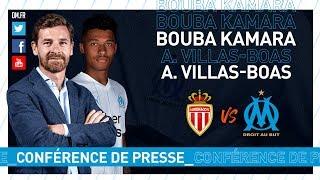 Monaco - OM La conférence de presse de Bouba Kamara & d'André Villas-Boas