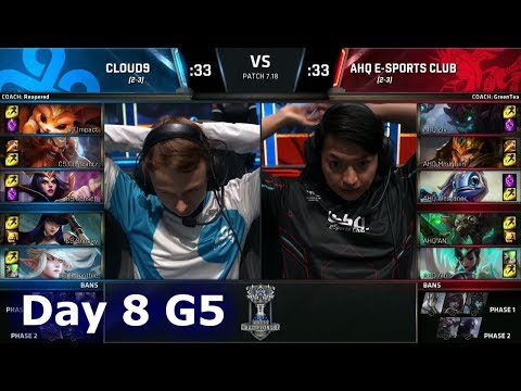 Cloud 9 vs ahq e-Sports | Day 8 Main Group Stage S7 LoL Worlds 2017 | C9 vs AHQ G2