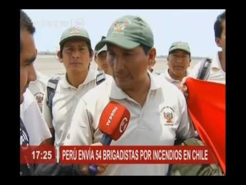 Perú envía 54 brigadistas por incendios en Chile