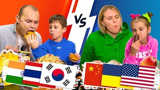 ВЛОГ Мальчики VS девочки / Еда из всего Мира смотреть онлайн в хорошем качестве бесплатно - VIDEOOO