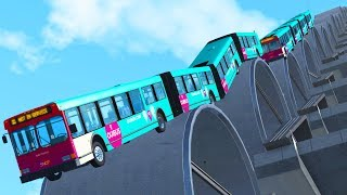 Articulated Bus Crashes #3 - BeamNG DRIVE | CrashTherapy