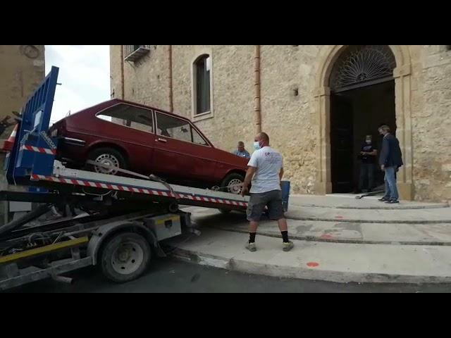 Canicattì, l'auto del giudice Livatino arriva al centro culturale [STUDIO 98]