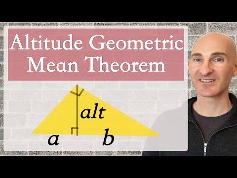 Altitude Geometric Mean Theorem