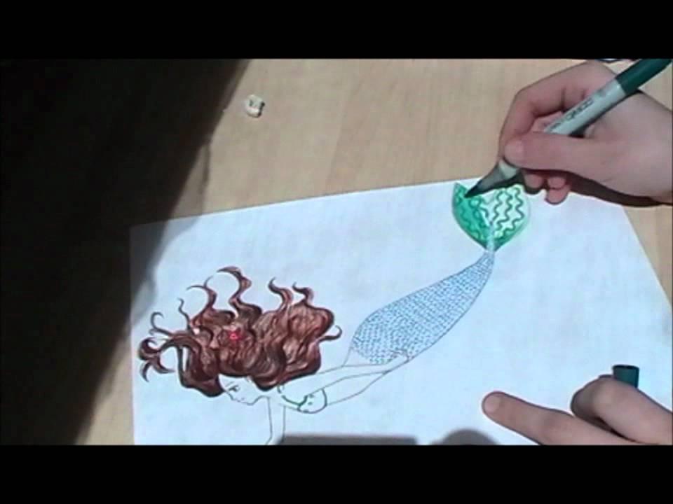 meerjungfrau flosse zeichnen  malvorlagen gratis