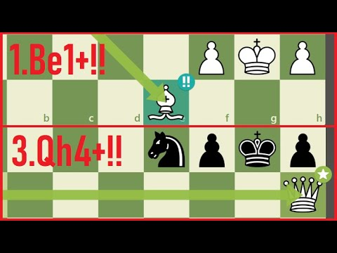 A BRILLIANT Queen Sac to Checkmate in the middle of the board!