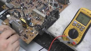 ремонт телевизора jvc av-14te не включается