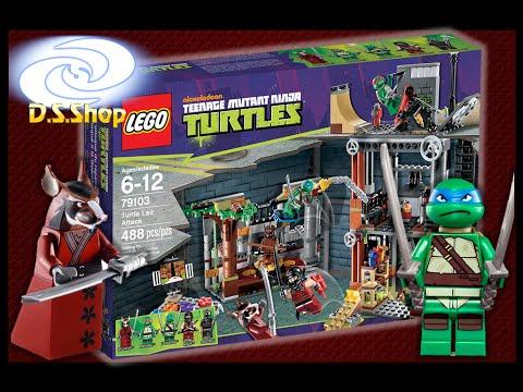 Lego 79103 ninja turtles ataque a la guarida de tortugas ninja tmnt