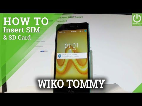 How to Insert SIM and SD in WIKO Tommy - Micro SIM & SD Slot