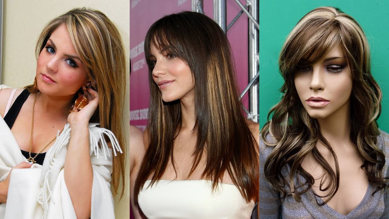 Light Brown Hairstyles With Blonde Highlights Youtube