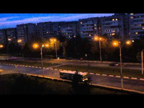 #VLOG-1 #Ночной город-вид с окна ...(Anastasia)