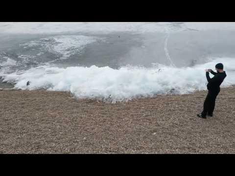 Viral Video UK: Ice wave on Lake Baikal