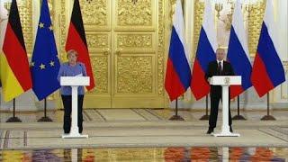 Au Kremlin, Angela Merkel demande la libération d'Alexeï Navalny