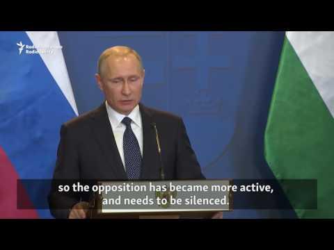 Putin Blames Kyiv For Escalation In Eastern Ukraine