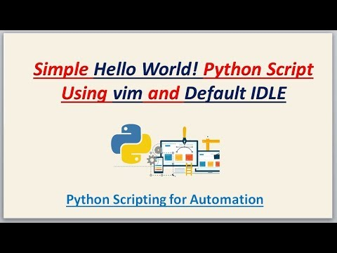 Python Scripting for Automation | Simple Hello World Python Script thumbnail