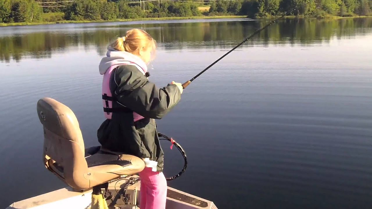 Kids bass fishing fathers day in maine youtube for Youtube bass fishing
