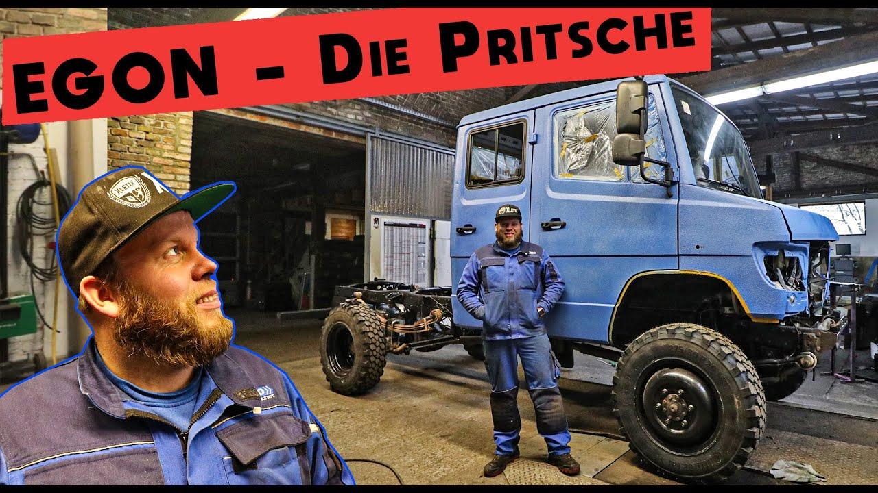 Mechaniker Baut Diesen Mercedes Vario 4x4 Pritsche zum Camper Um