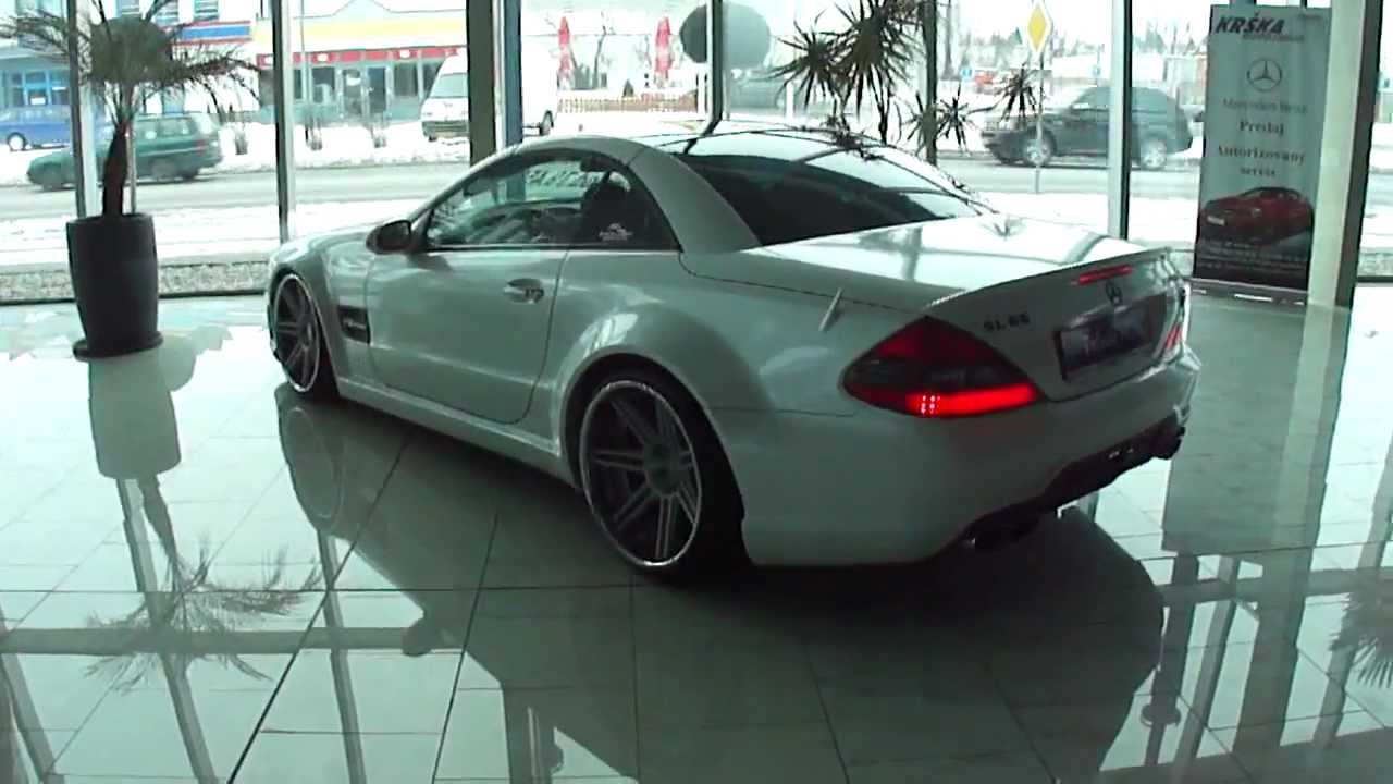 Mercedes sl65 amg on 20 dpe wheels youtube for Bob ross mercedes benz