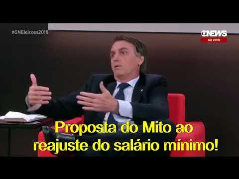 Proposta do Bolsonaro de reajuste do salário mínimo