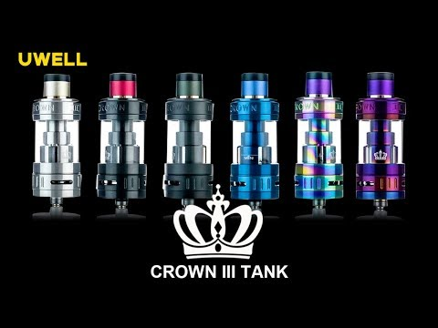 Official UWELL Crown III (Crown 3) SubOhm Tank for Vape Box Mods