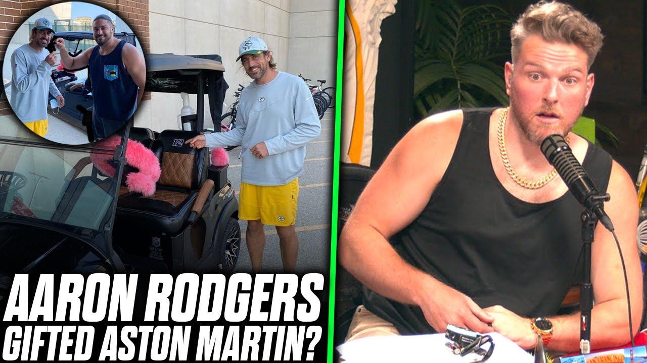 Pat McAfee Reacts: David Bakhtiari Buys Aaron Rodgers An Aston Martin.. Kind Of