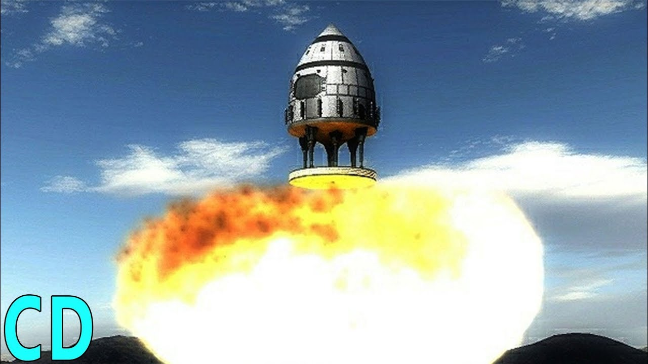 The Atomic Bomb Powered Space Rocket